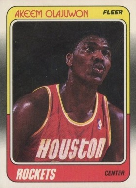 1988 Fleer Akeem Olajuwon #53 Basketball Card