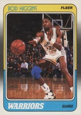 1988 Fleer Rod Higgins #47 Basketball Card