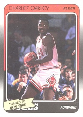 1988 Fleer Charles Oakley #18 Basketball Card
