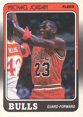 1988 Fleer Michael Jordan #17 Basketball Card