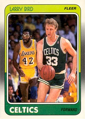 1988 Fleer Larry Bird #9 Basketball Card