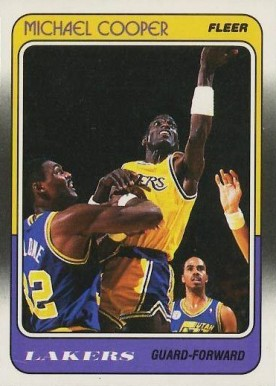 1988 Fleer Michael Cooper #65 Basketball Card