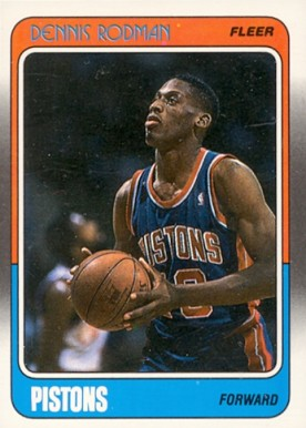 1988 Fleer Dennis Rodman #43 Basketball Card