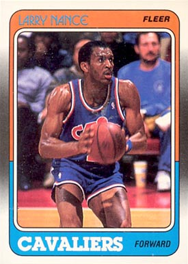 1988 Fleer Larry Nance #24 Basketball Card