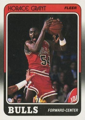 1988 Fleer Horace Grant #16 Basketball Card