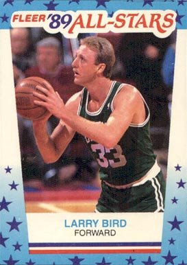 1989 Fleer Sticker Larry Bird #10 Basketball Card