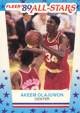 1989 Fleer Sticker Akeem Olajuwon #2 Basketball Card