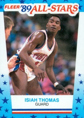 1989 Fleer Sticker Isiah Thomas #6 Basketball Card