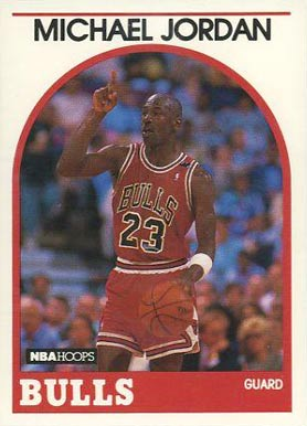 1989 Hoops Michael Jordan #200 Basketball Card