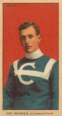1910-11 Imperial Art Bernier #25 Hockey Card