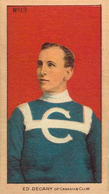 1910-11 Imperial Ed Decary #13 Hockey Card