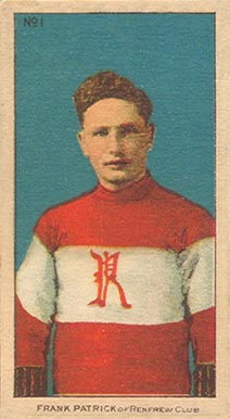 1910-11 Imperial Frank Patrick #1 Hockey Card