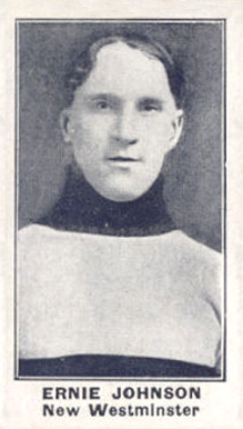 1912 C57 Ernest Johnson #25 Hockey Card
