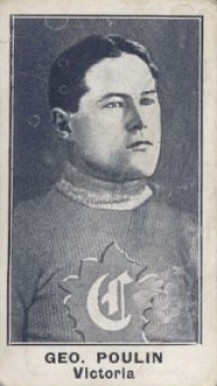 1912 C57 George Poulin #8 Hockey Card