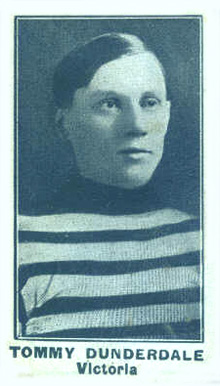 1912 C57 Tom Dunderdale #5 Hockey Card