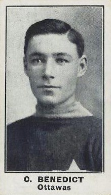 1912 C57 Clint Benedict #3 Hockey Card