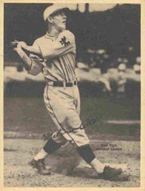 1929 Kashin Publications Mel Ott 67 Baseball Card Value Price Guide