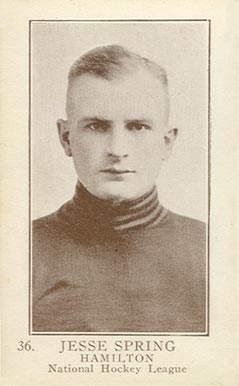 1923 William Patterson Jesse Spring #36 Hockey Card