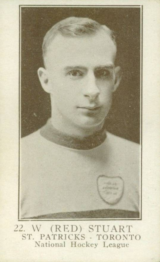 1923 William Patterson W. (Red) Stuart #22 Hockey Card