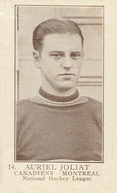 1923 William Patterson Aurel Joliat #14 Hockey Card