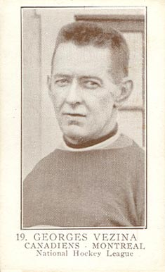 1923 William Patterson Georges Vezina #19 Hockey Card