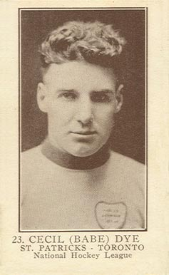 1923 William Patterson Cecil Dye #23 Hockey Card