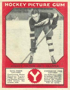 1933-34 Canadian Gum Dit Clapper #11 Hockey Card