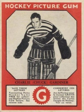 1933-34 Canadian Gum Chuck Gardiner #24 Hockey Card