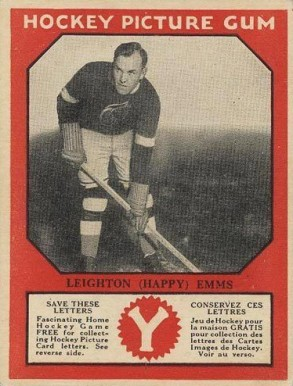 1933-34 Canadian Gum Happy Emms #22 Hockey Card