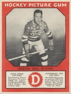 1933-34 Canadian Gum Mervyn Dutton #21 Hockey Card