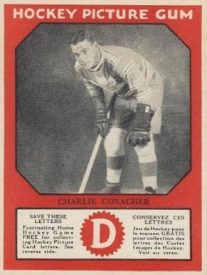 1933-34 Canadian Gum Charlie Conacher #12 Hockey Card