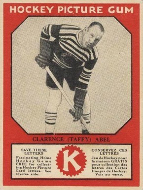1933-34 Canadian Gum Clarence Abel #1 Hockey Card