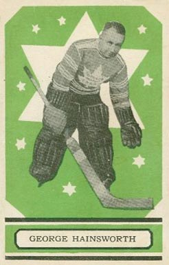 1933 O-Pee-Chee George Hainsworth #15 Hockey Card
