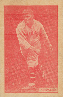 1933 Uncle Jacks Candy Hack Wilson #30 Baseball Card