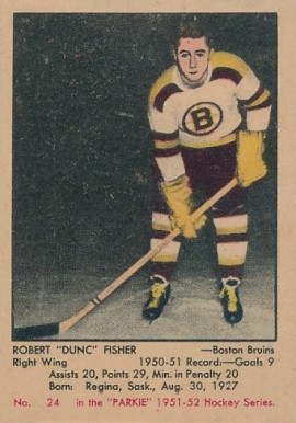1951 Parkhurst Dunc Fisher #24 Hockey Card
