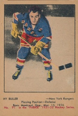 1951 Parkhurst Hy Buller #91 Hockey Card