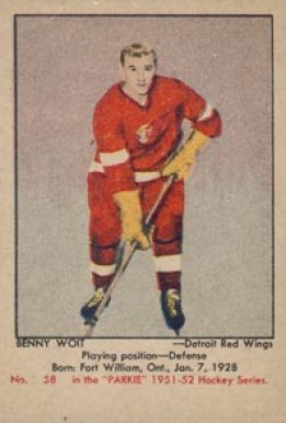 1951 Parkhurst Benny Woit #58 Hockey Card