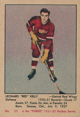 1951 Parkhurst Red Kelly #55 Hockey Card