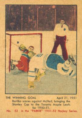 1951 Parkhurst   #52 Hockey Card