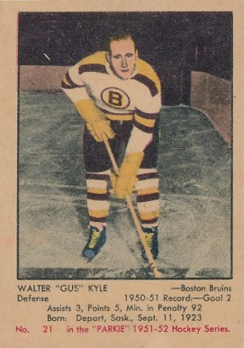 1951 Parkhurst Walter Kyle #21 Hockey Card