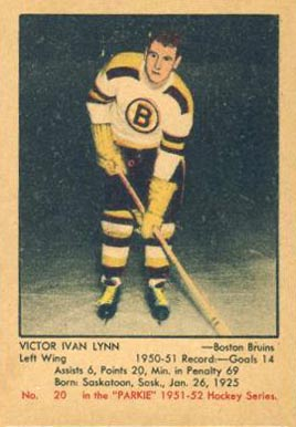 1951 Parkhurst Victor Lynn #20 Hockey Card