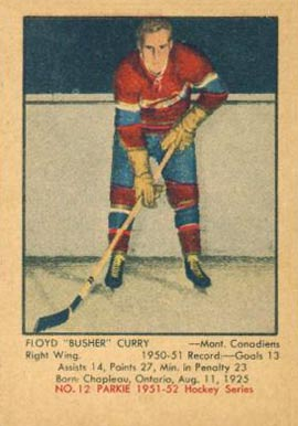 1951 Parkhurst Floyd Curry #12 Hockey Card
