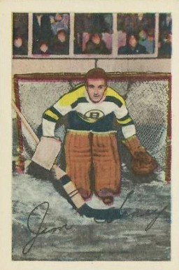1952 Parkhurst Jim Henry #74 Hockey Card