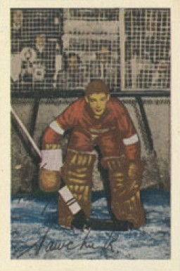 1952 Parkhurst Terry Sawchuk #86 Hockey Card