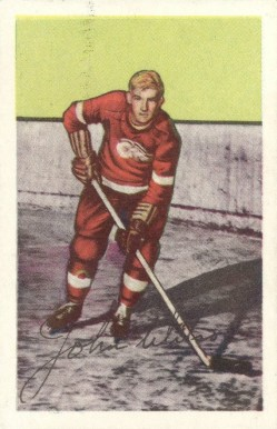 1952 Parkhurst Johnny Wilson #89 Hockey Card