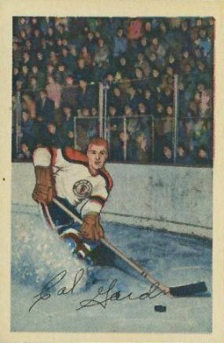 1952 Parkhurst Cal Gardner #30 Hockey Card