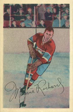 1952 Parkhurst Maurice Richard #1 Hockey Card