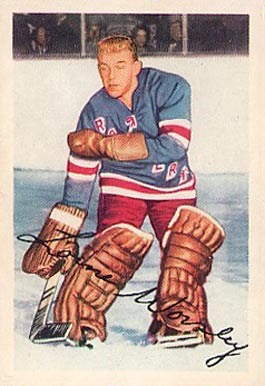 1953 Parkhurst Gump Worsley #53 Hockey Card