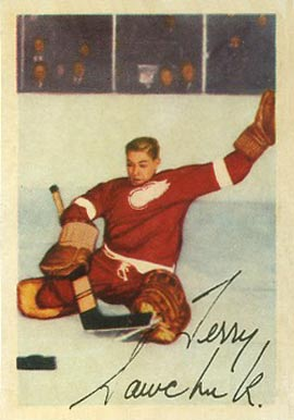 1953 Parkhurst Terry Sawchuk #46 Hockey Card