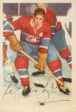 1953 Parkhurst Elmer Lach #31 Hockey Card